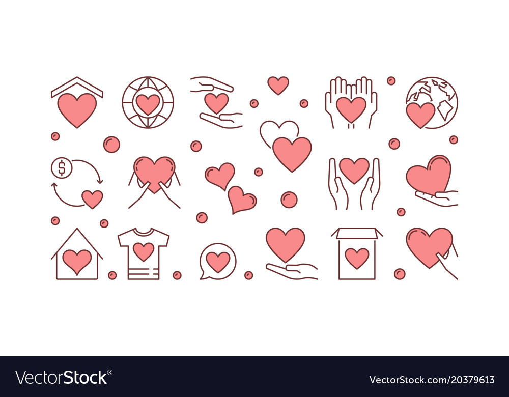 Donation creative or banner vector image
