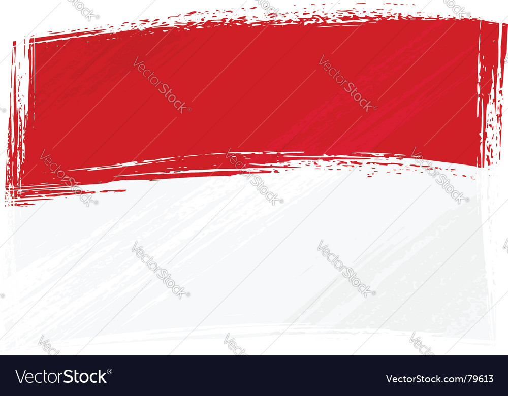 Grunge indonesia and monaco flag vector image