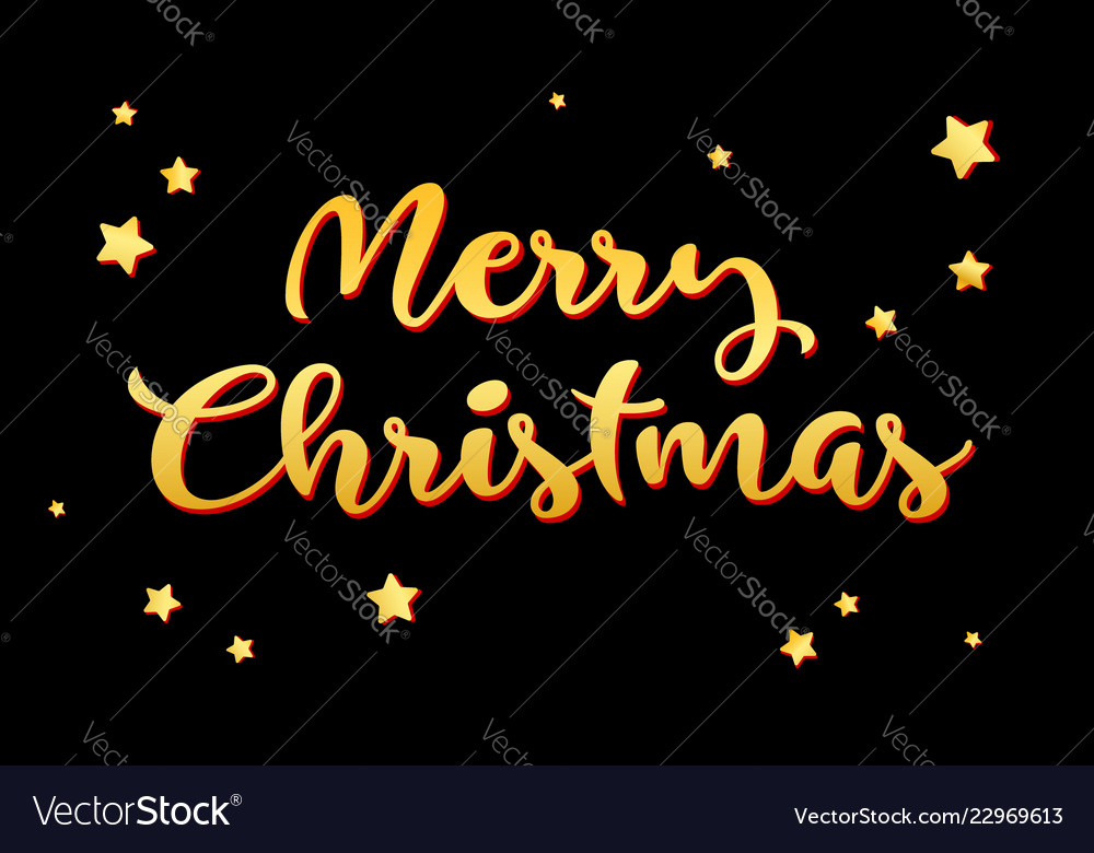 Merry christmas and happy new year 2019 gold