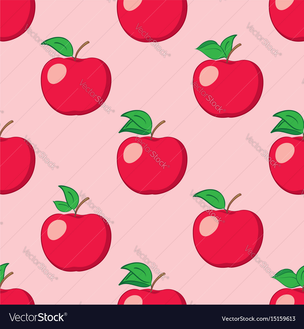 Rosy seamless background with red apples