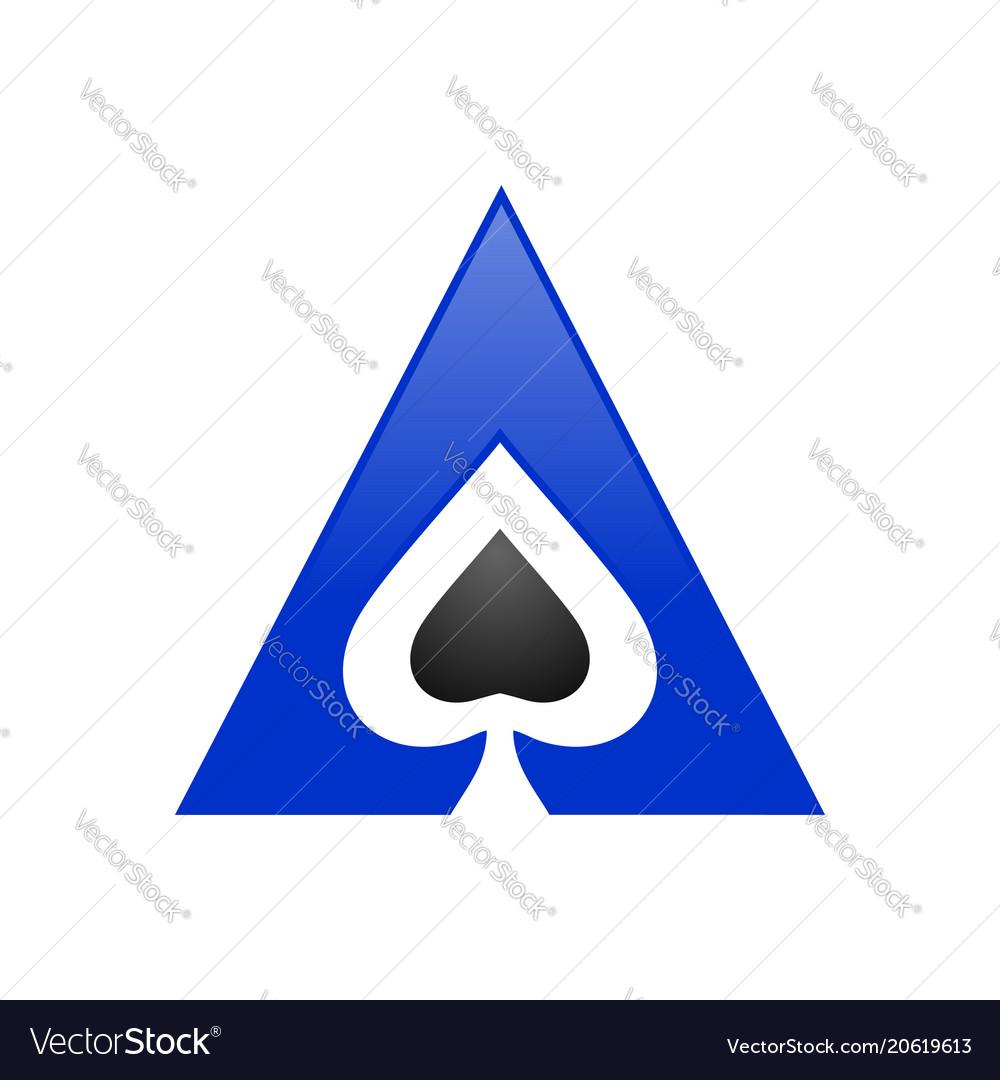 spade ace triangle symbol logo design royalty free vector
