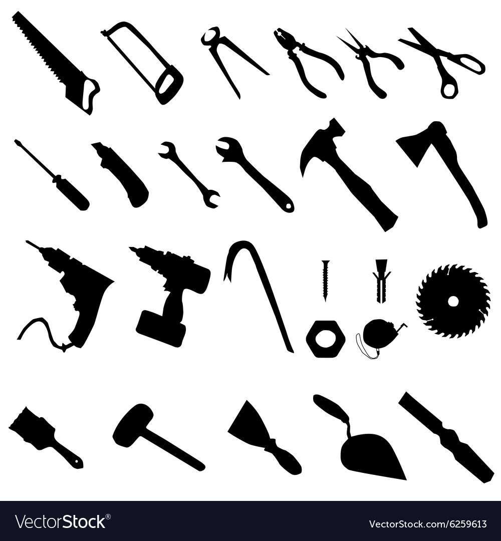 Tools silhouette set