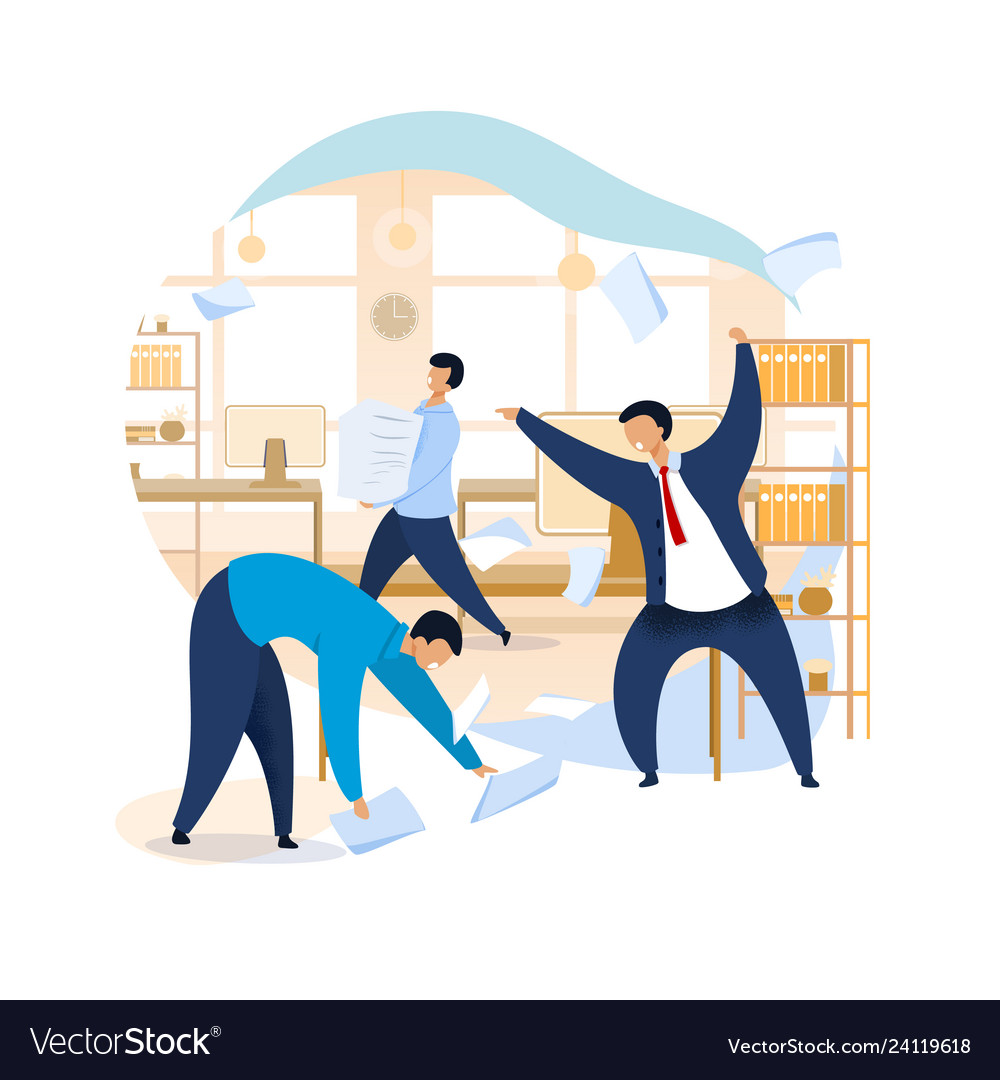 Stock Illustrations - Overworked employees. Stock Clipart gg69228661 -  GoGraph