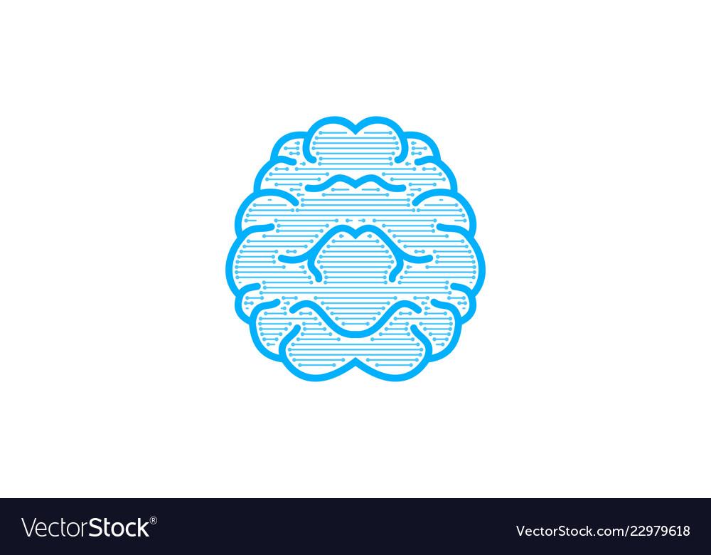 Brain logo designs inspiration isolated on white