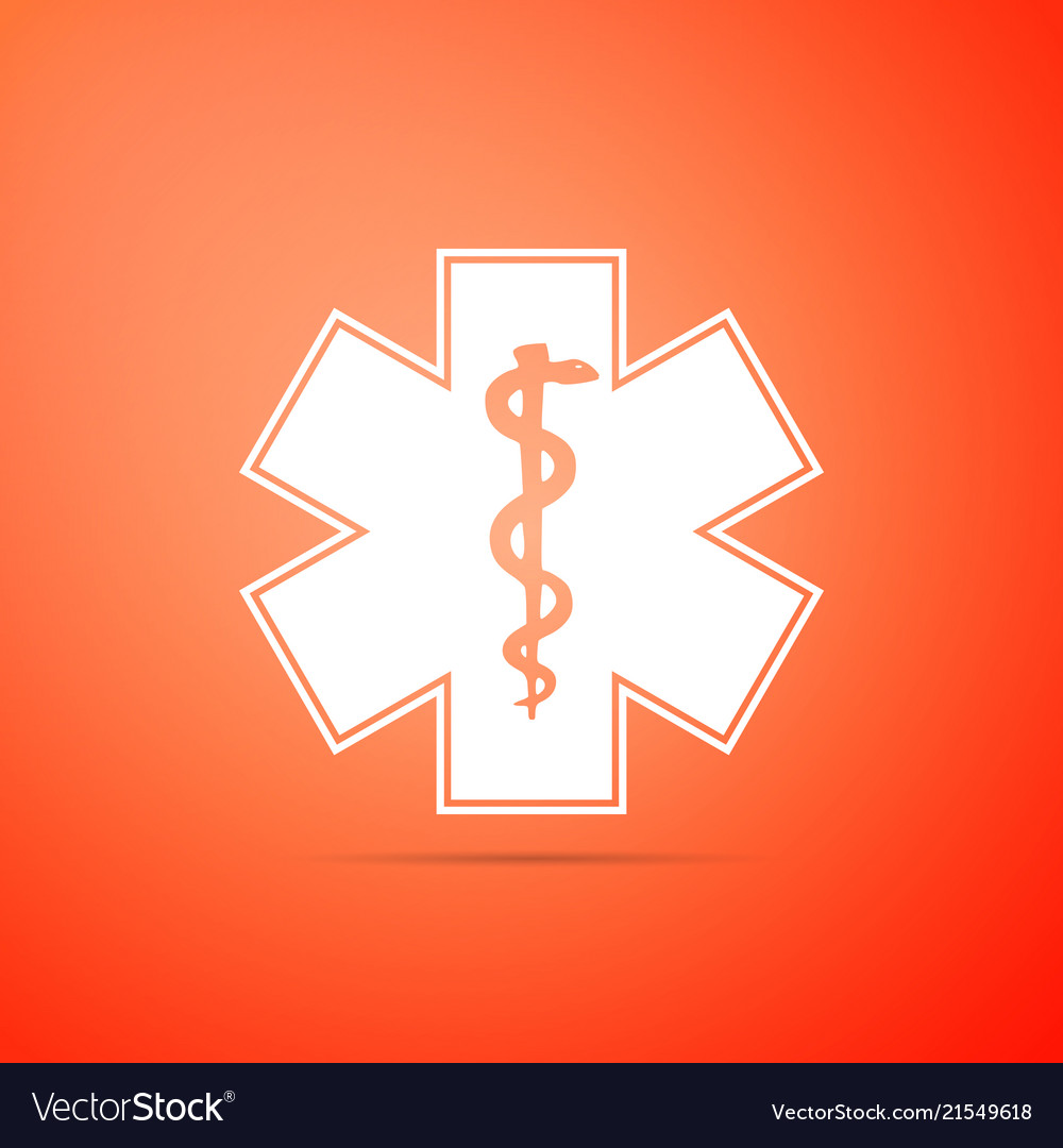 Medical symbol of the emergency star of life icon