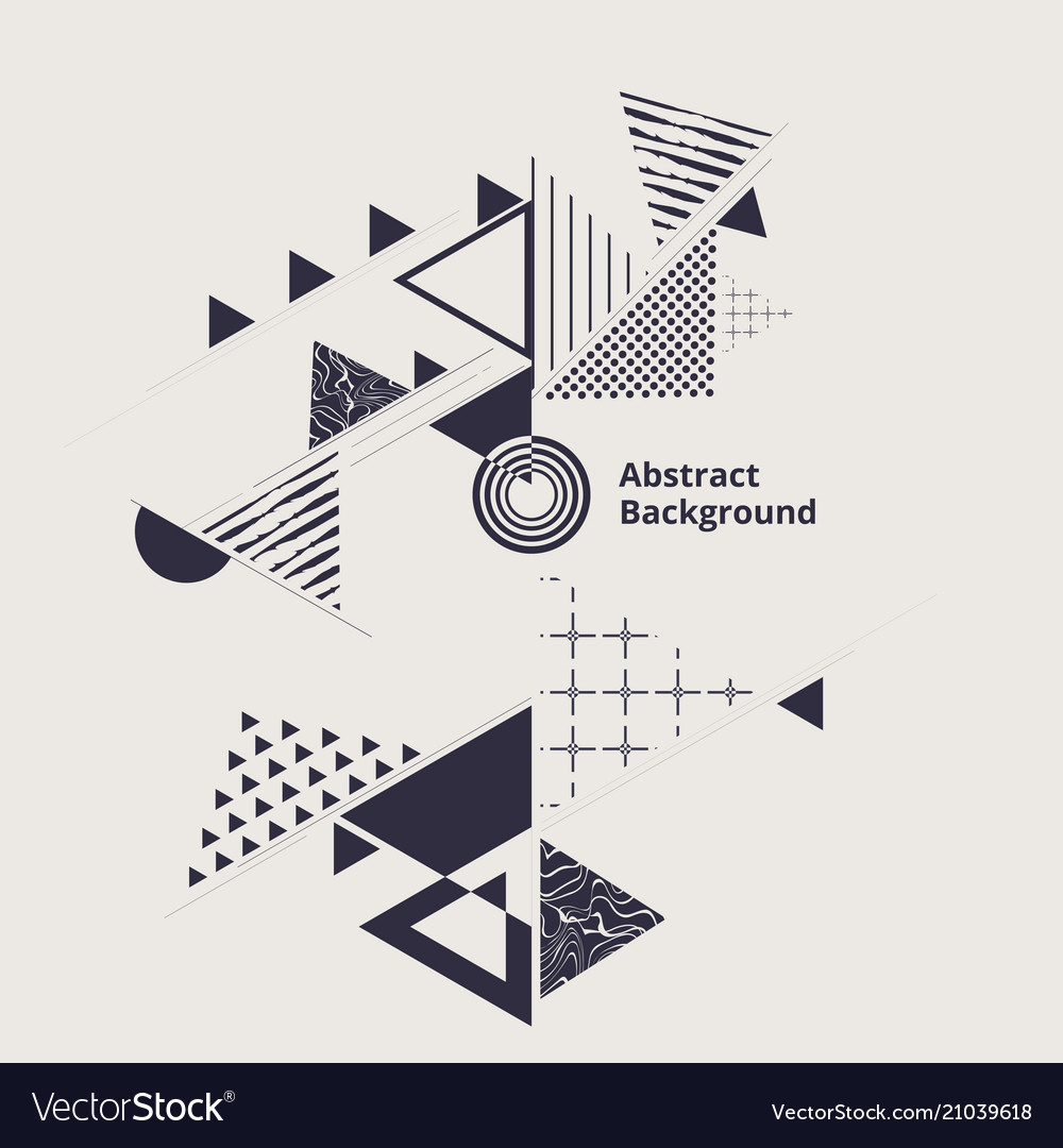 Modern stylish of geometric blue abstraction vector image