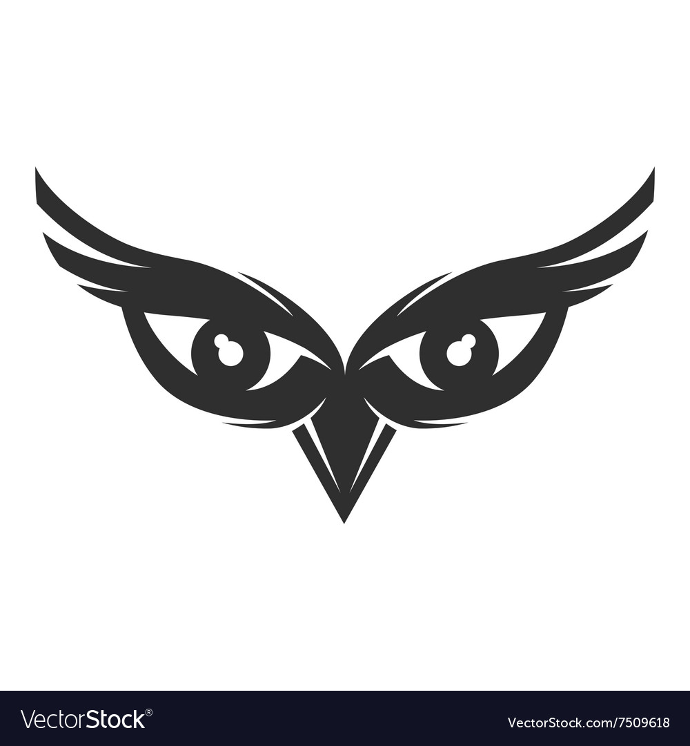 Owl Eyes Logo Vector Image