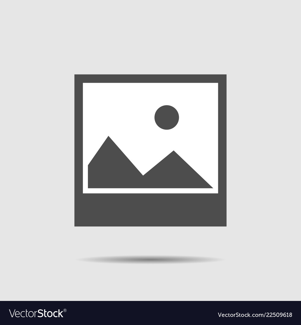 Picture icon with shadow