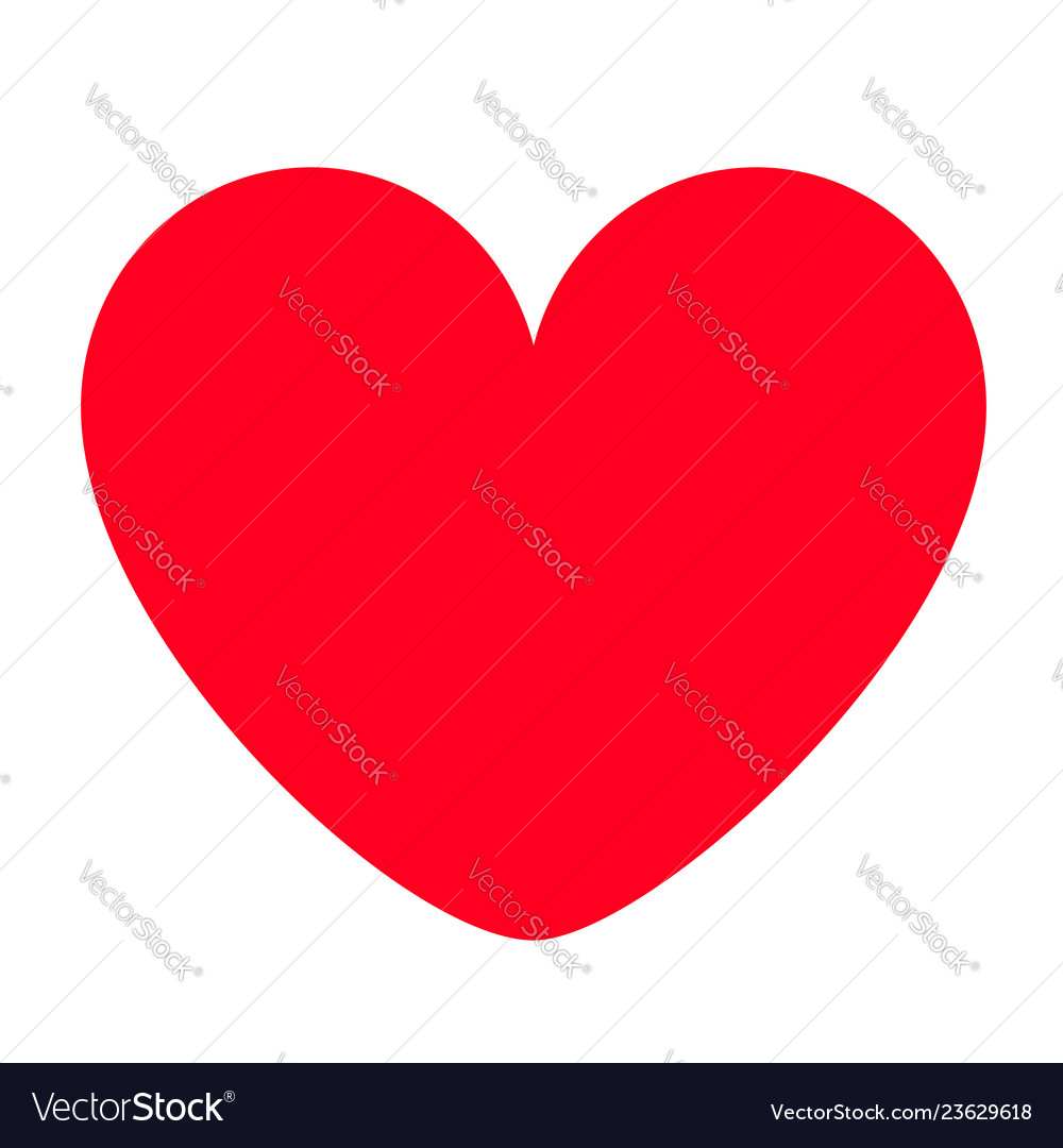Red heart icon happy valentines day sign symbol