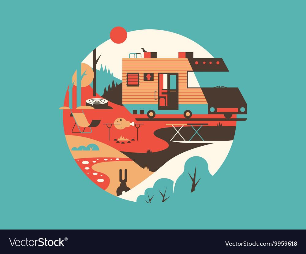 Trailer machine house
