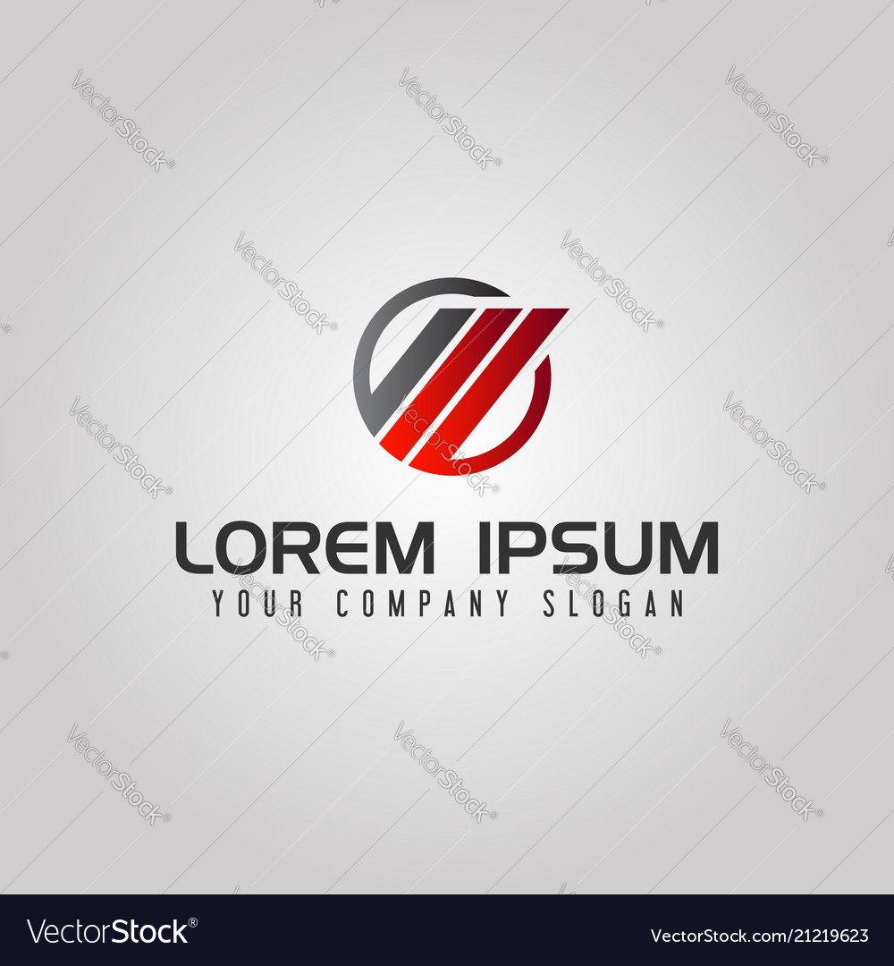 Abstract circle business finance logo design
