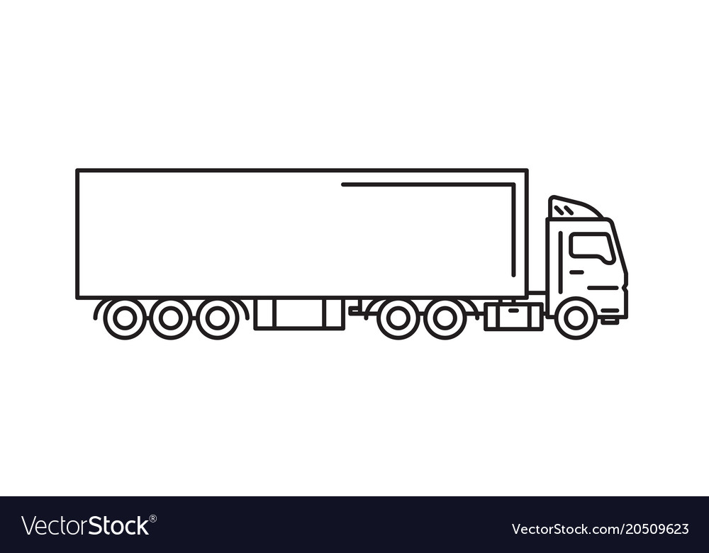 Cargo truck with freight container