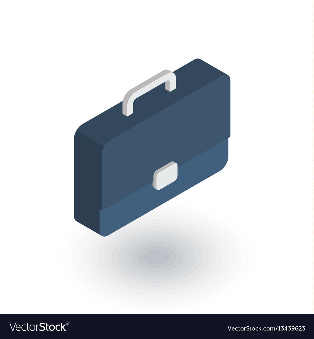 Case briefcase career symbol portfolio vector image