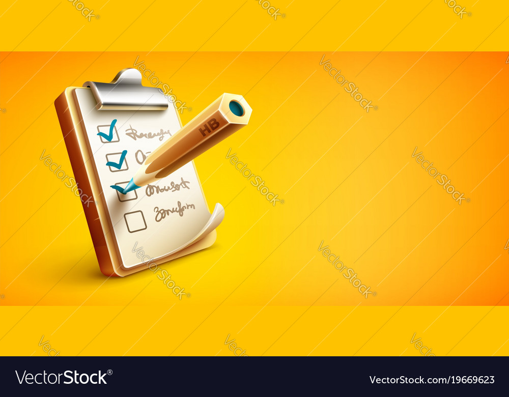 checklist things to do royalty free vector image