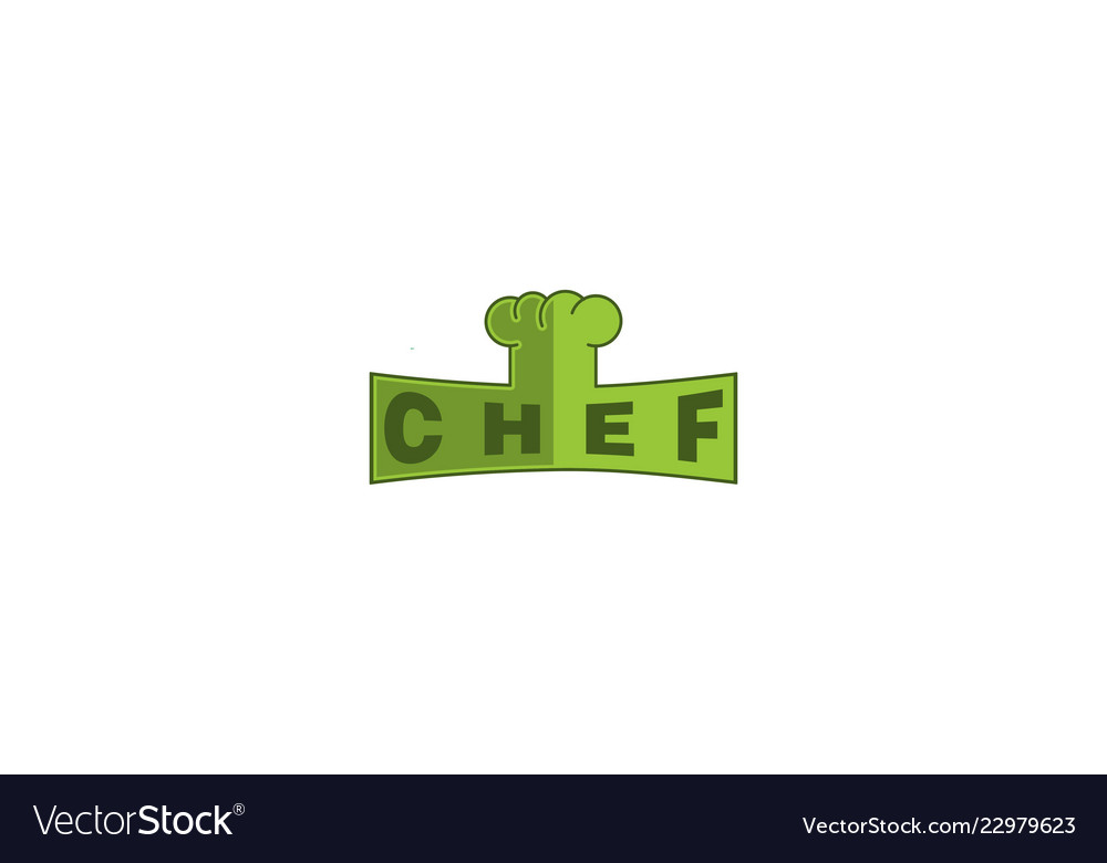 Chef hat logo designs inspiration isolated on