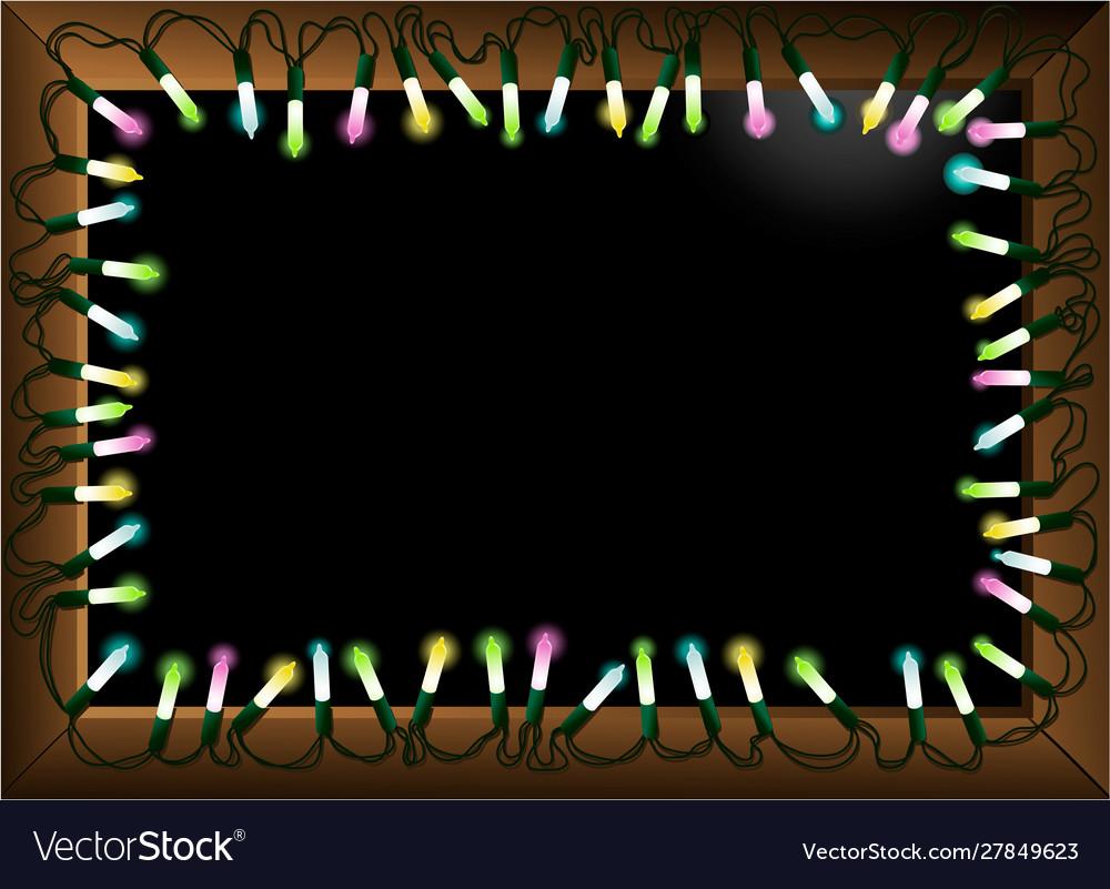 Christmas lighting frame