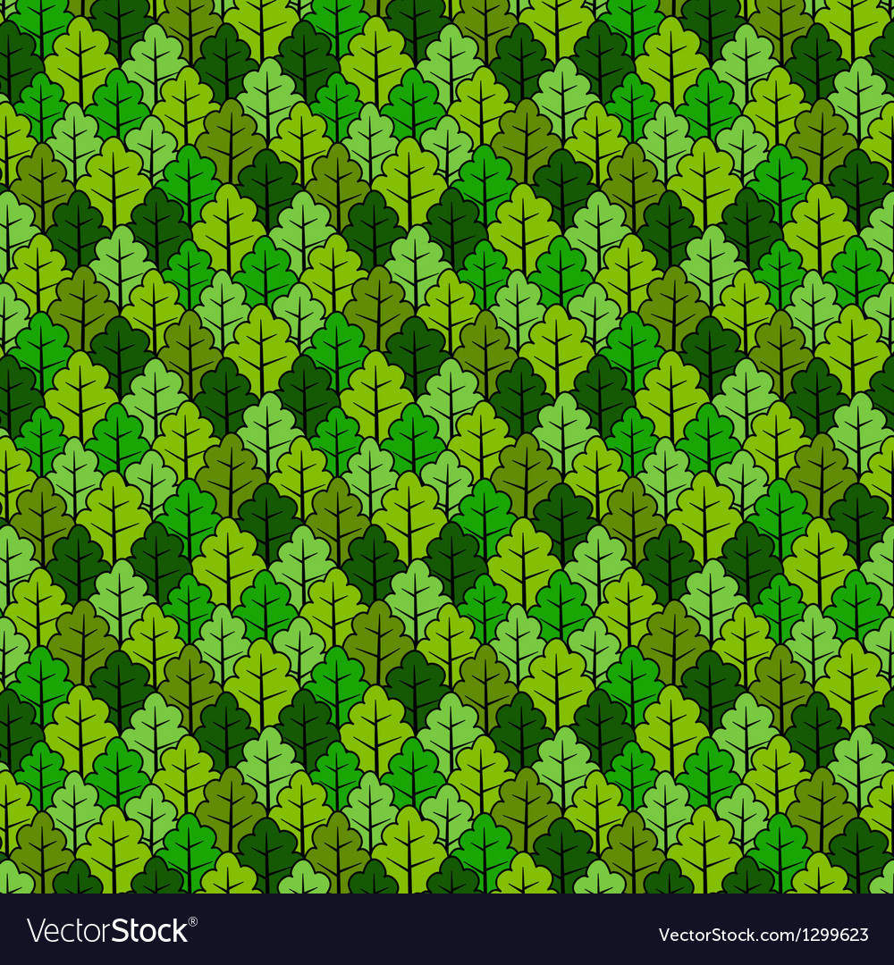 Forest pattern vector image
