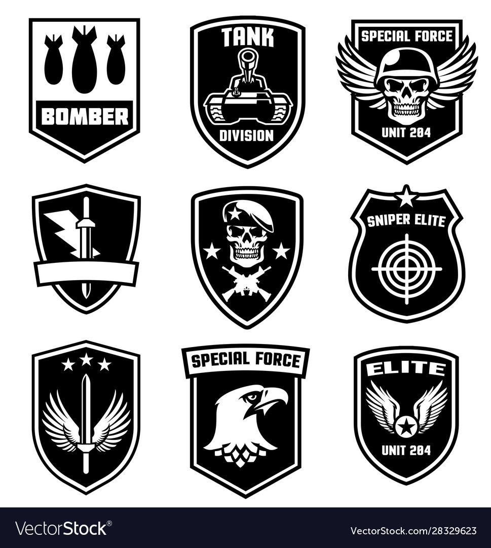 Set military patches design