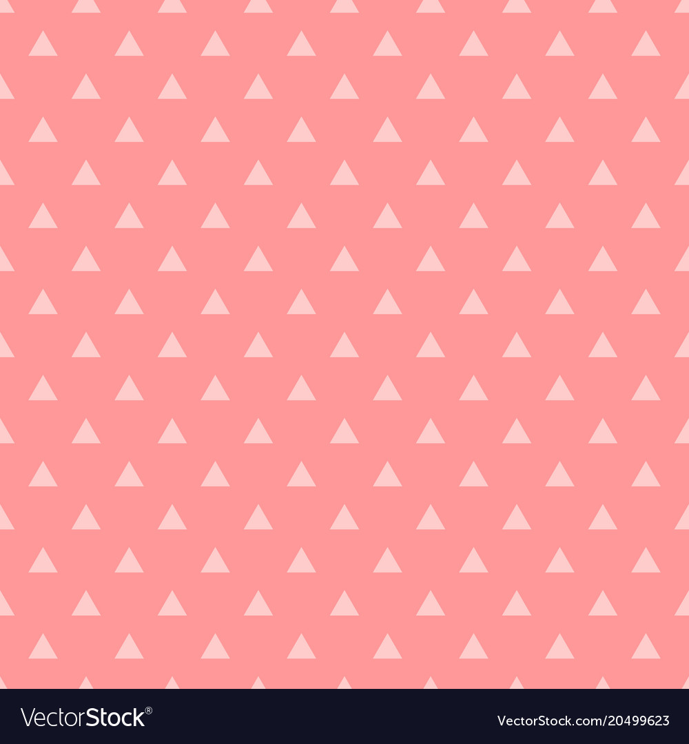 tile pattern with pink triangles on pastel pink vector image