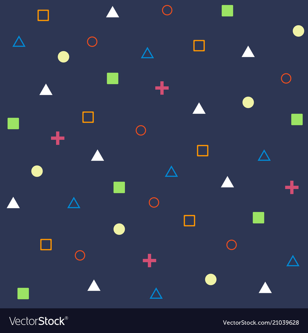Abstract of geometrical shape pattern on blue vector image