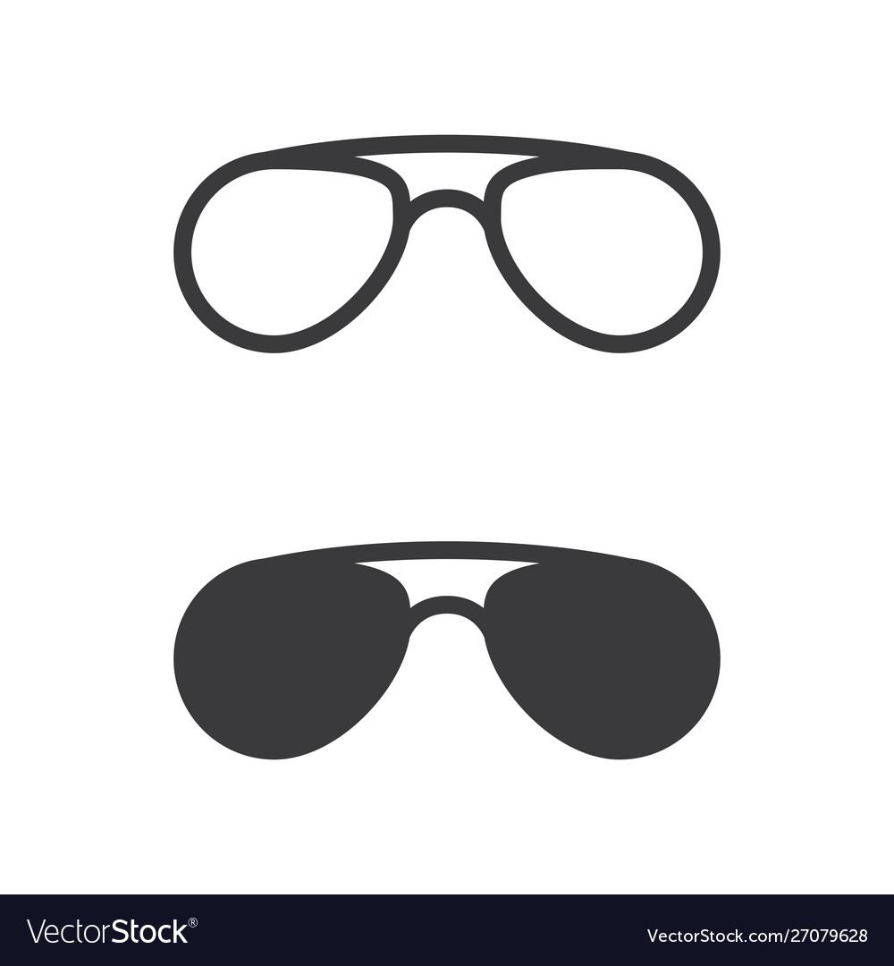 Glasses symbol icon design
