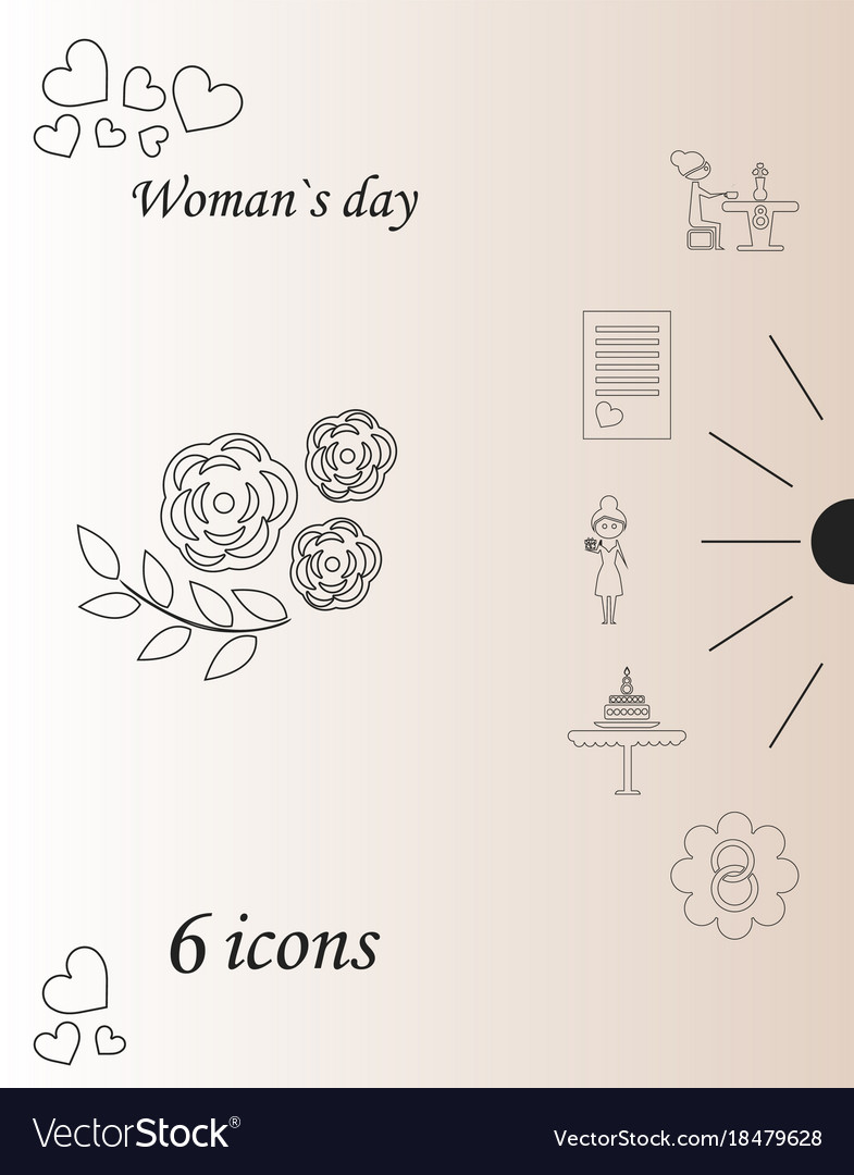 I love you womens doodle 6 icon in set of womens