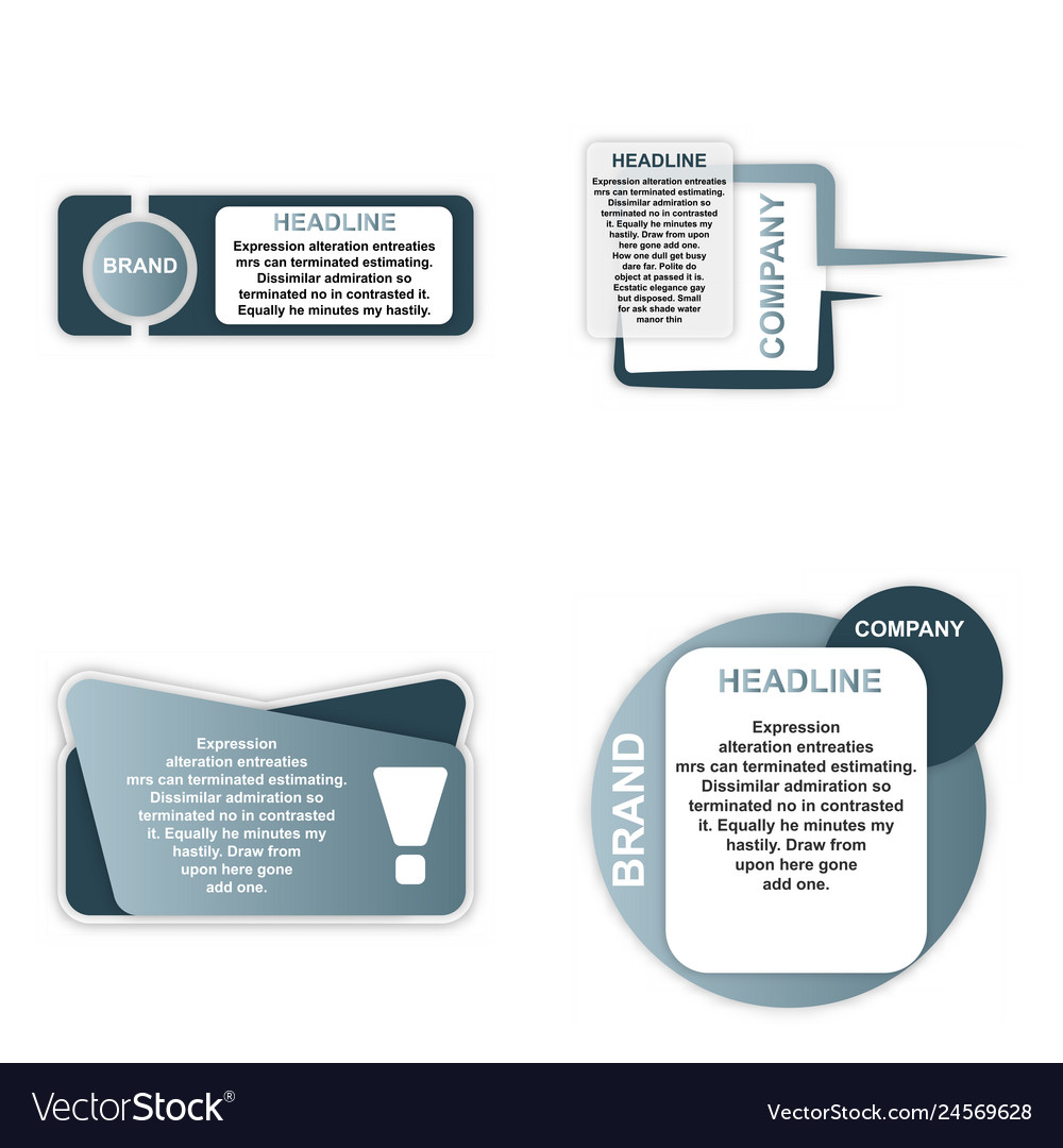 Modern elements infografics template for your