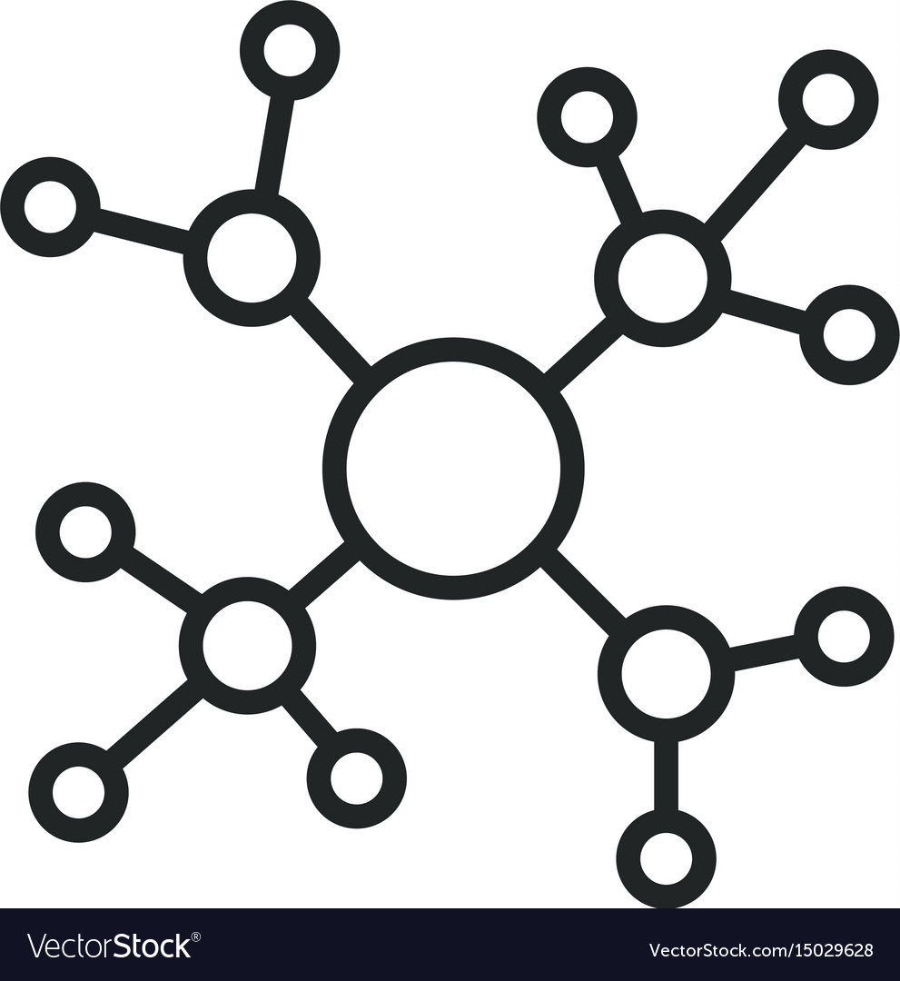 Modern network concept icon isolated on white vector image