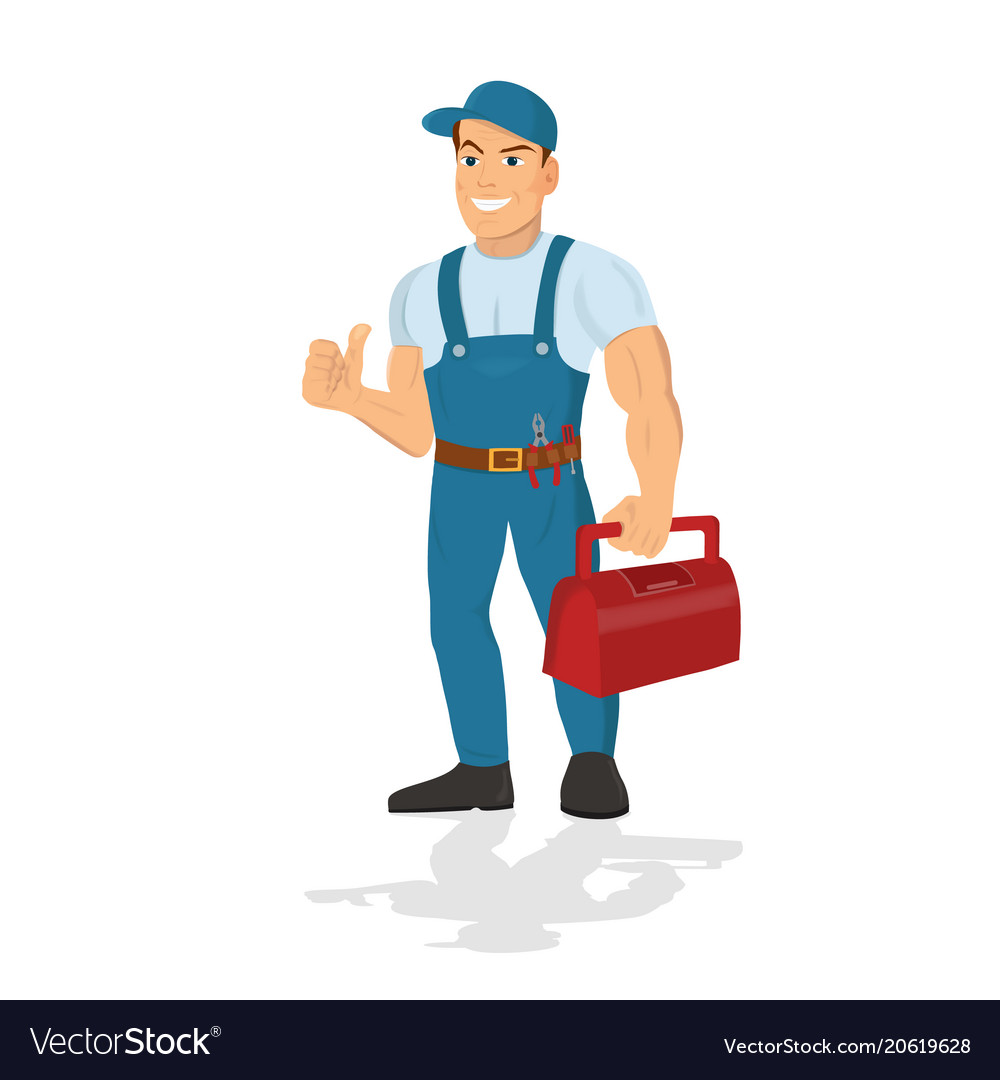 Repairman with the tools technical service