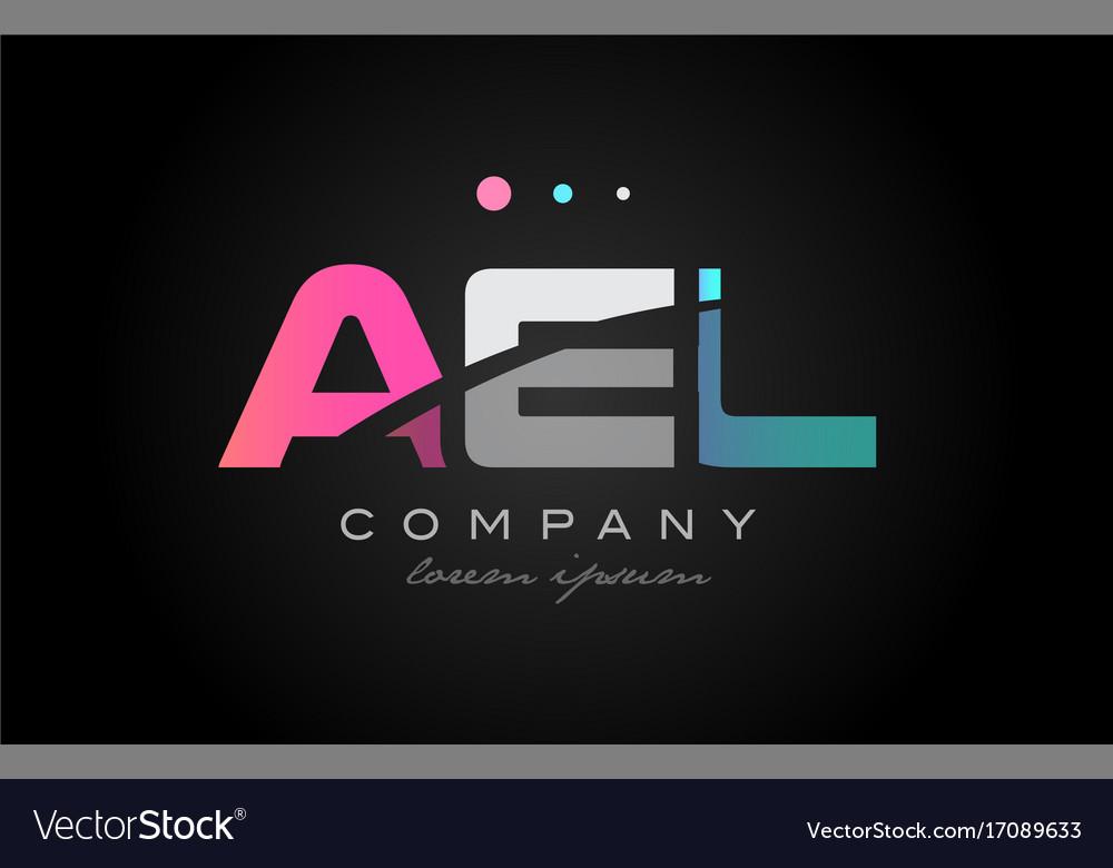 Ael a e l three letter logo icon design vector image