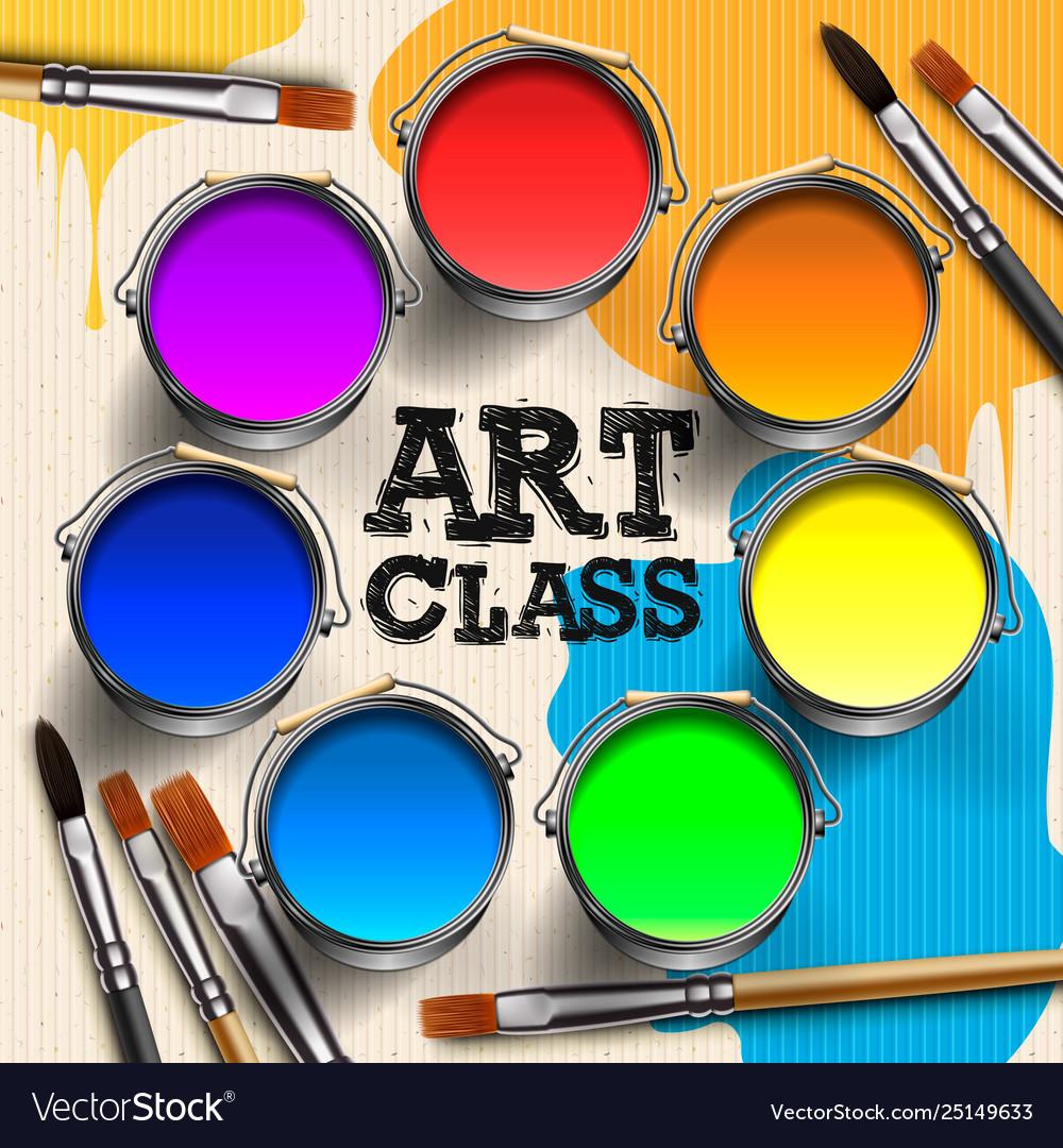 Art class workshop template design kids art craft