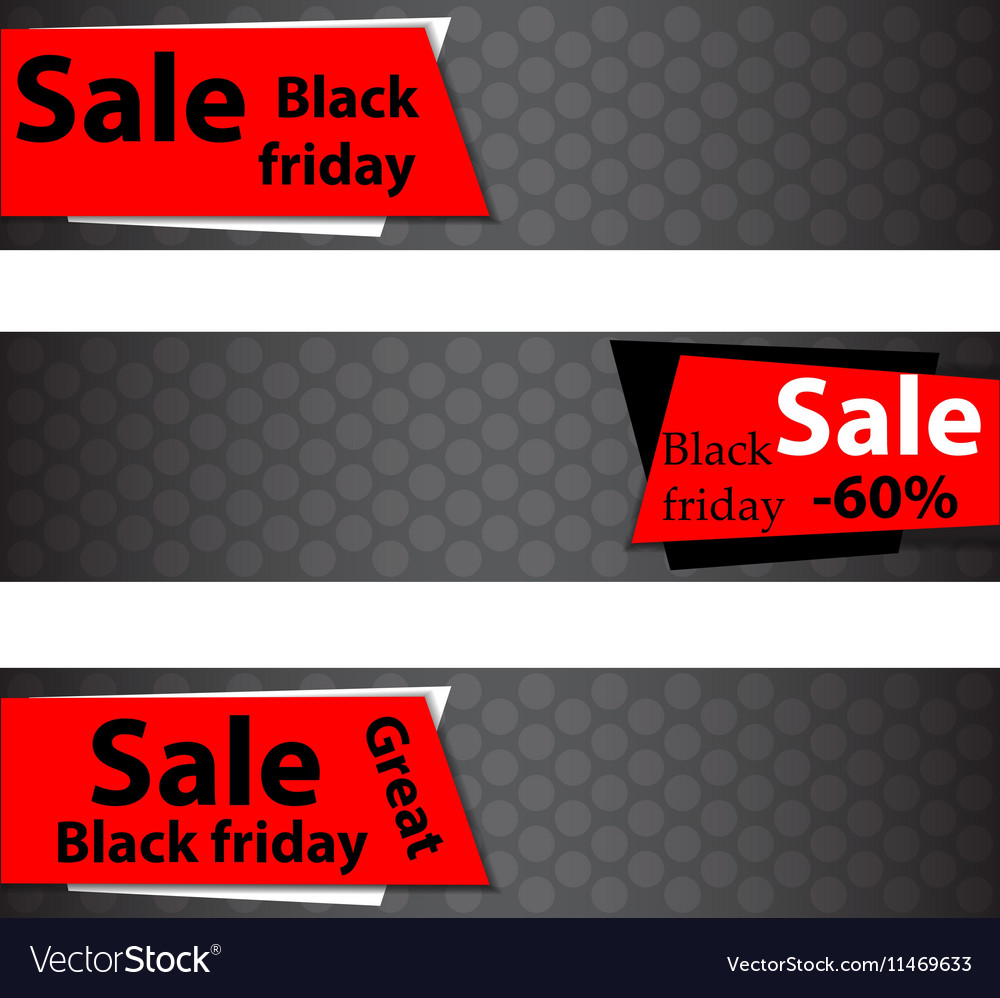 Black friday sale Web banners