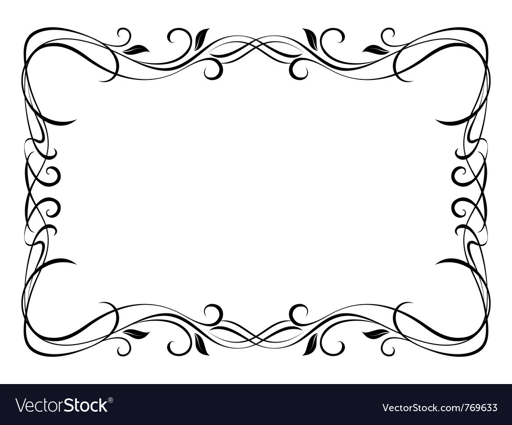 floral ornamental frame royalty free vector image rh vectorstock com frame vector download frame vector png