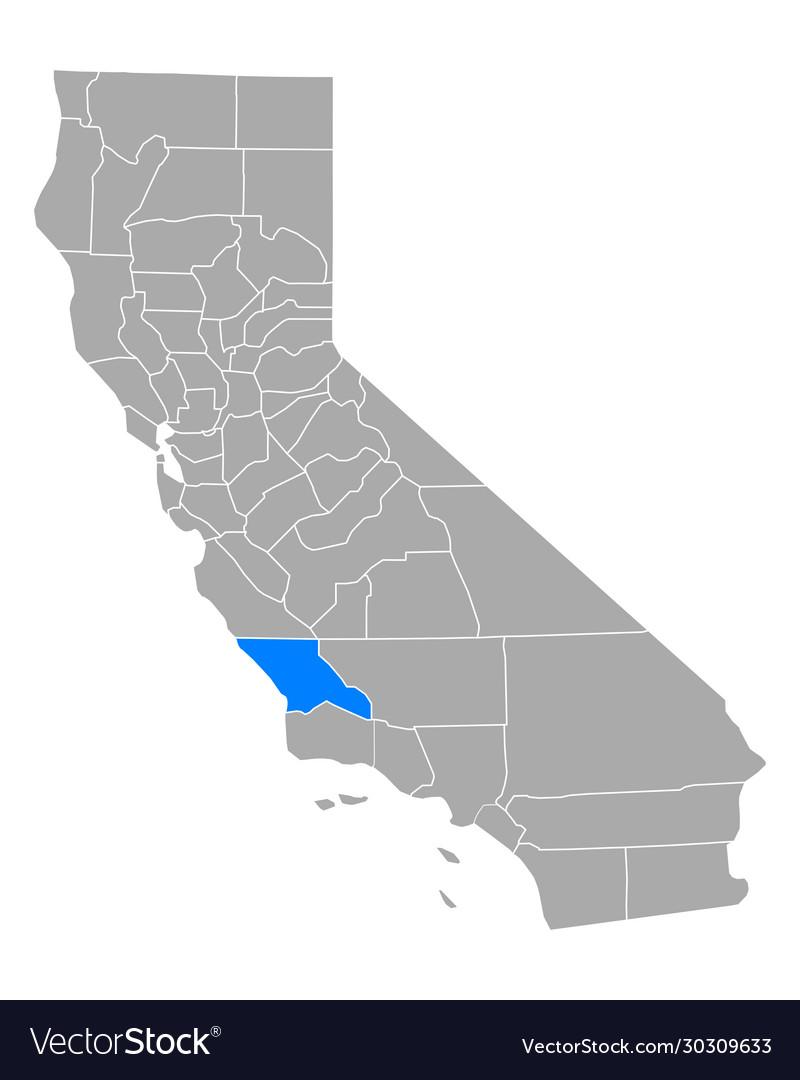 Map san luis obispo in california