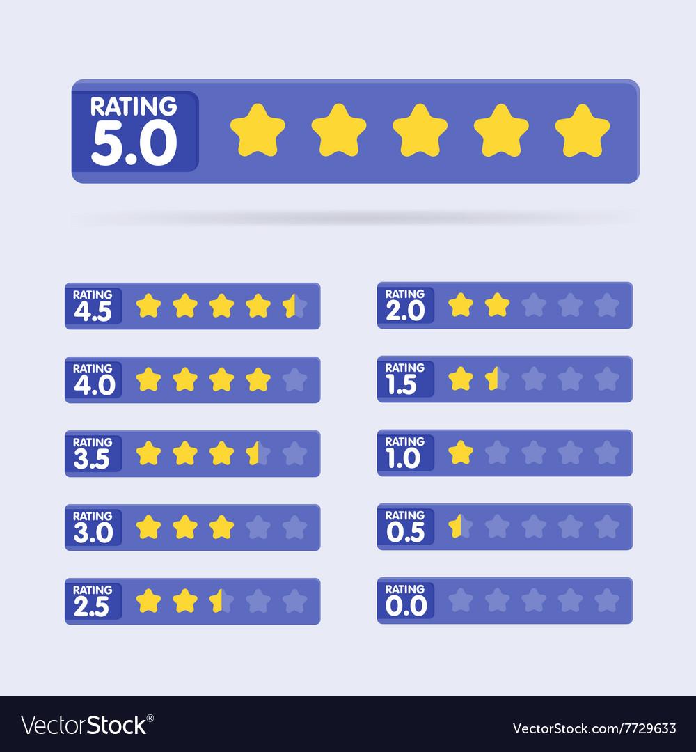 Rating stars set vector image