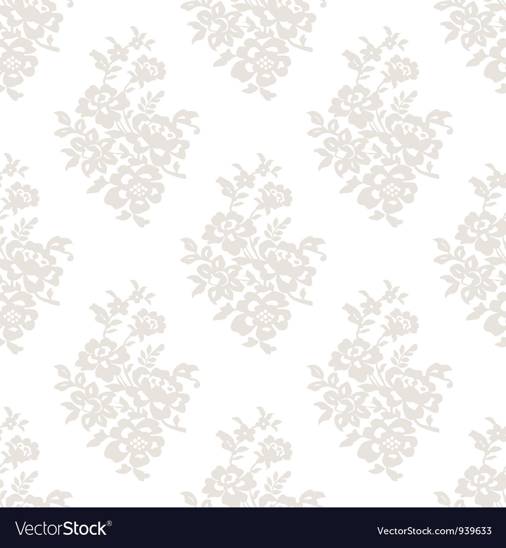 Seamless Light Floral Wallpaper Royalty Free Vector Image
