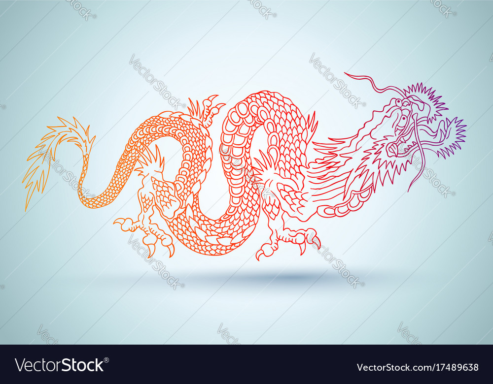 Chinese colorful dragon