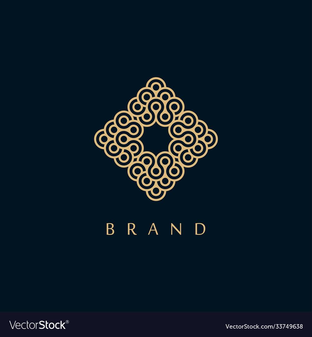 Creative monogram symbol logo design