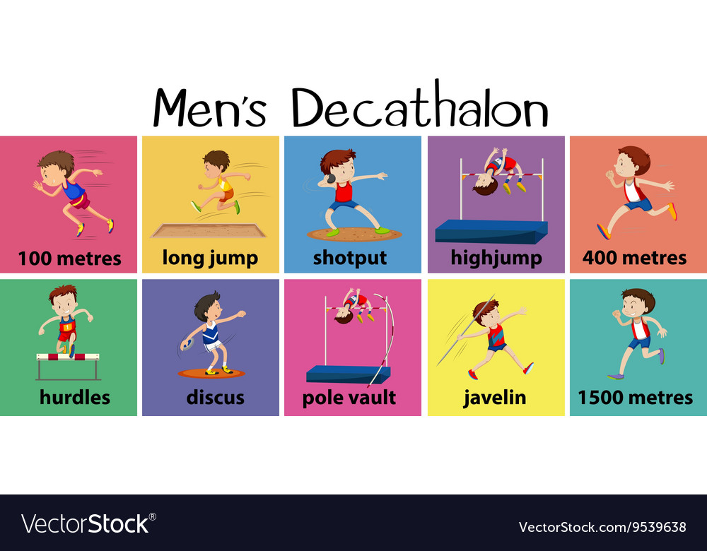 Different types of mens decathalon