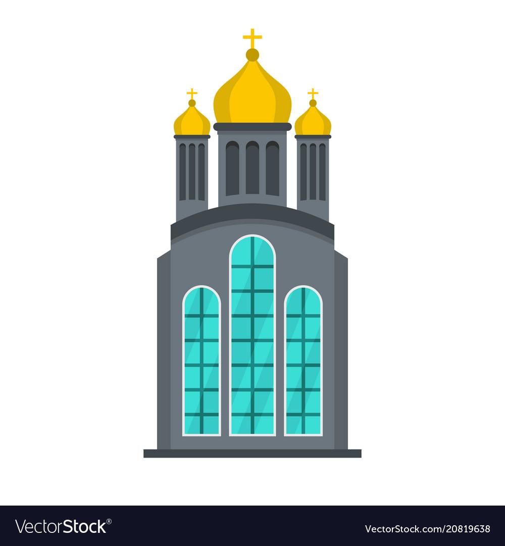 Eastern church icon flat style