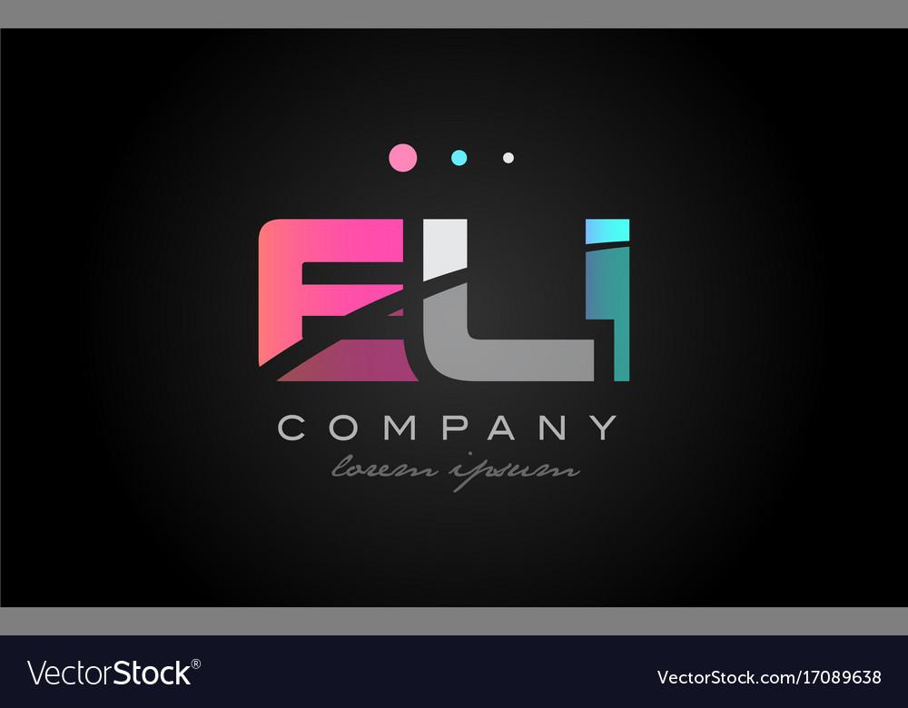 Eli e l i three letter logo icon design