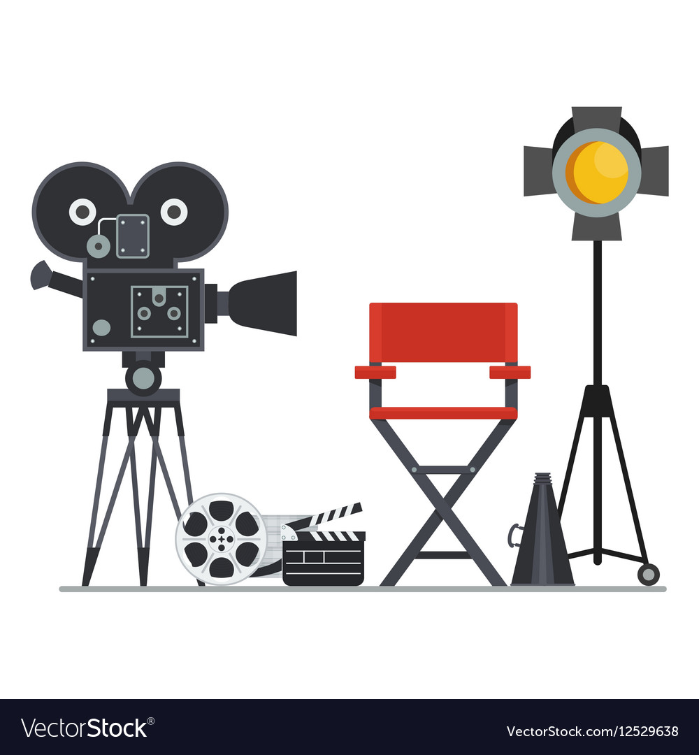 Film Set Director Chair Vector Image