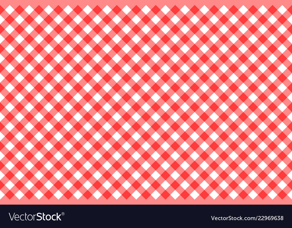 Gingham red checkered seamless pattern plaid