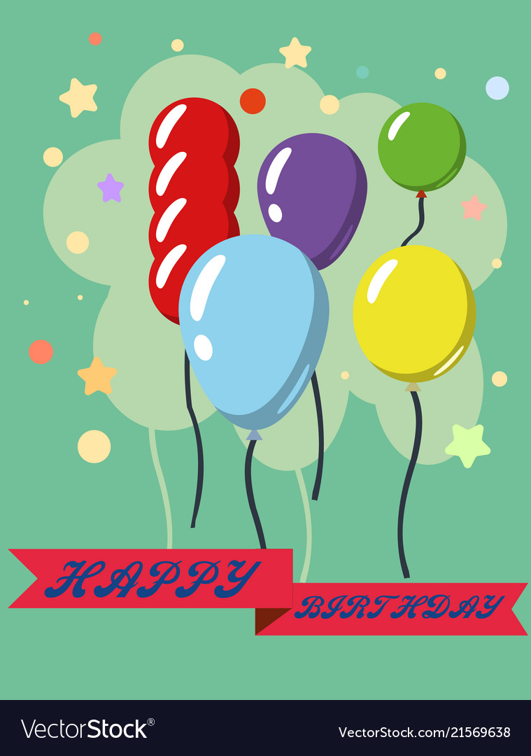 Happy Birthday Design Greeting Cards With Vector Image