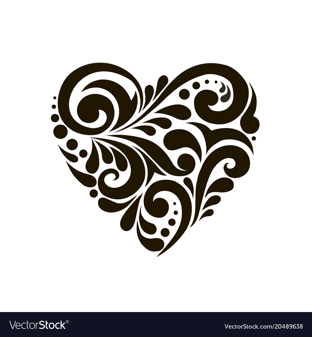 Heart with beautiful patterns