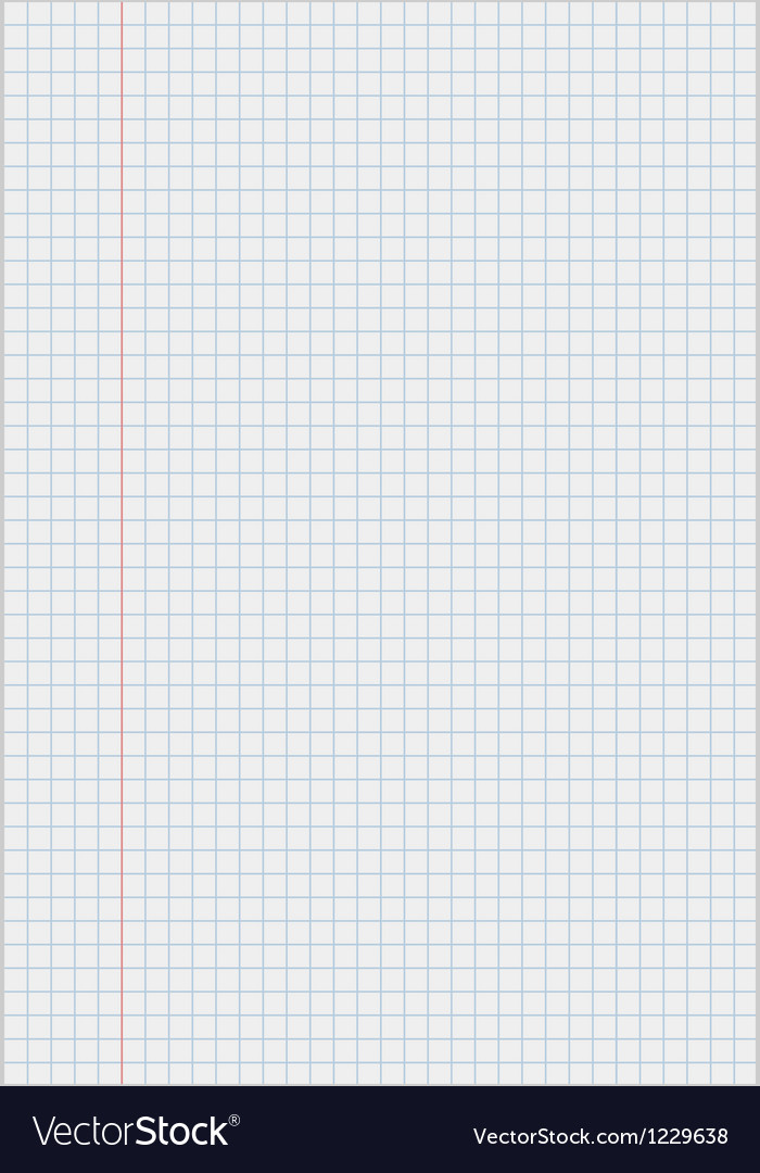 Notebook paper with squares vector image