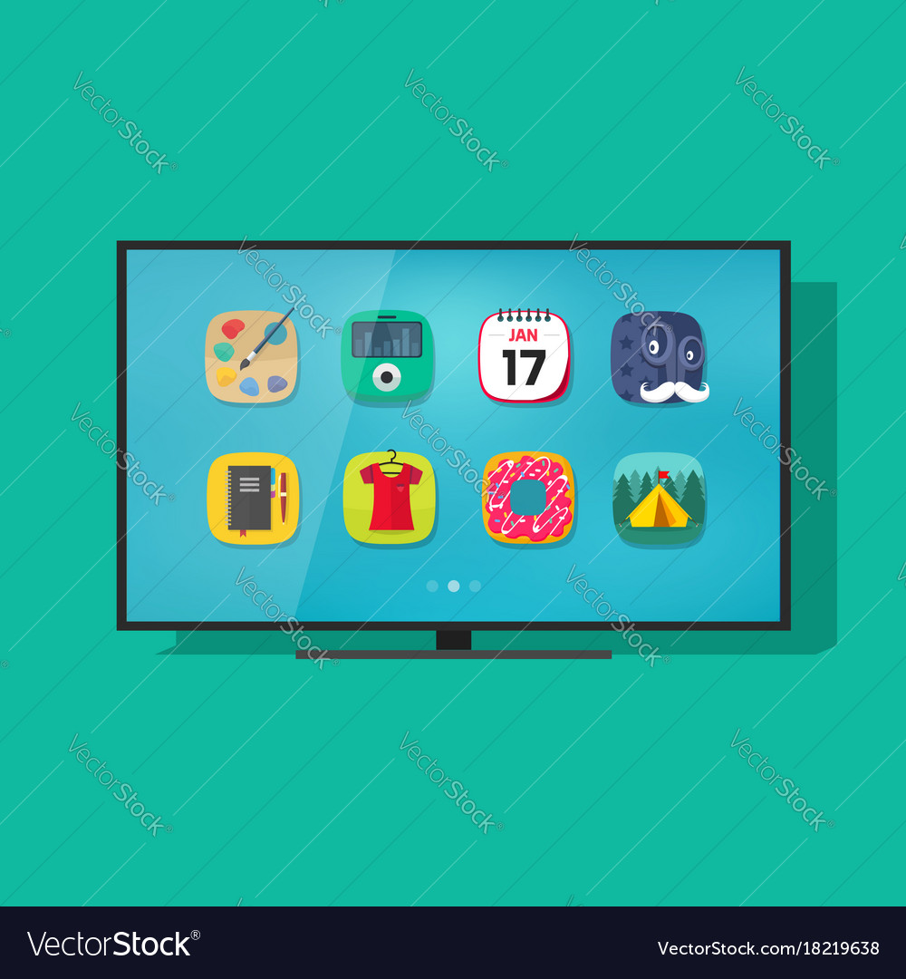 Smart television flat screen tv with