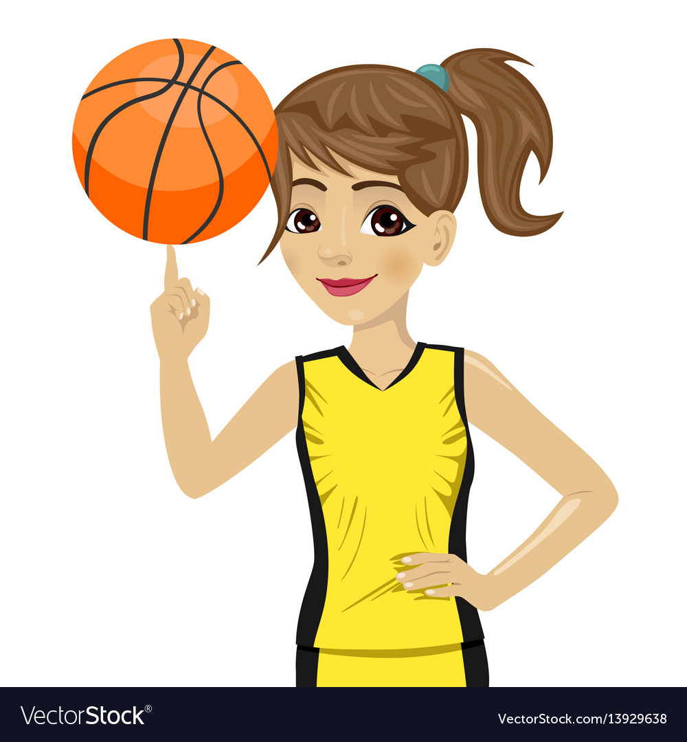 how to draw a girl playing basketball