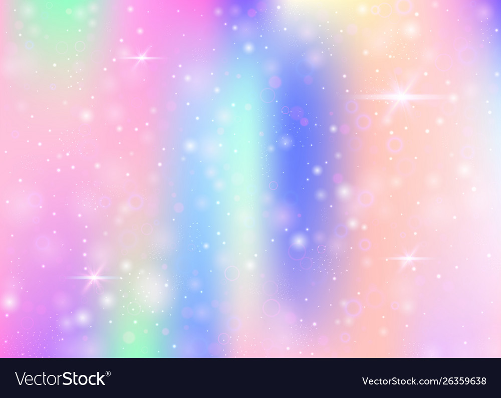 Unicorn background with rainbow mesh