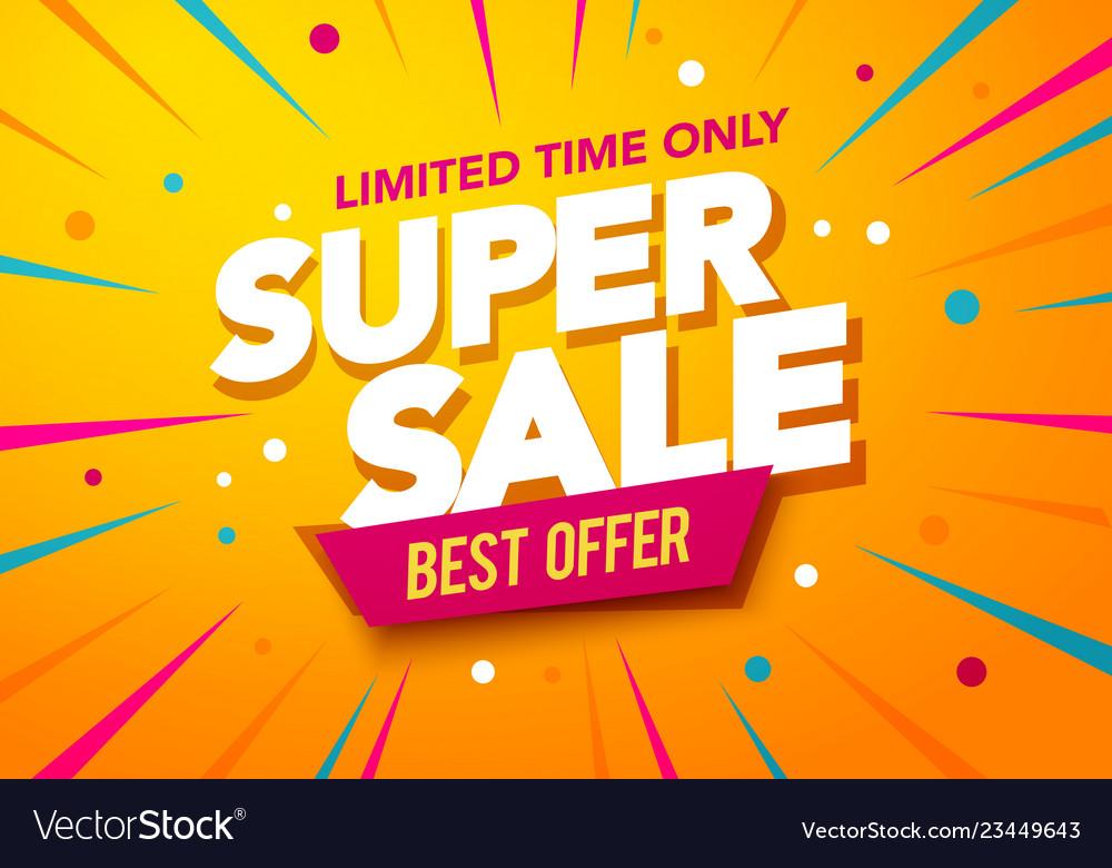 Big sales special offer banner template design